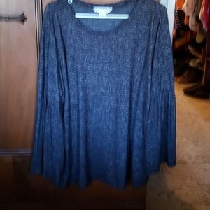 Black 3/4 Sleeve Tunic by Workshop